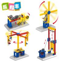【直降3折起】工程主题系列 万格拼装教学机械组电动益智积木拼插玩具