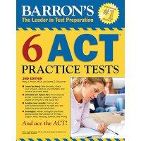 Barron's 6 ACT Practice Tests 巴朗6套ACT测试题,第2版【英文原版】