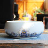 茶具茶盘茶道配件笔洗陶瓷大小茶渣缸茶洗水杯