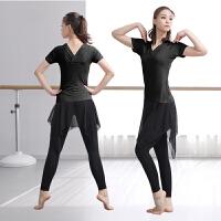 拉丁舞服装女成人新款专业套装形体现代舞蹈服练功古典跳舞衣瑜伽服