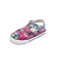 童鞋夏季新款经典百搭格子女童板鞋男童布鞋包头宝宝凉鞋