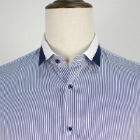 断码衬衫男长袖秋装拼色免烫长袖衬衣条纹休闲正装绅士秋装寸衫潮