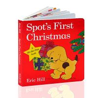 英文原版绘本Spot's First Christmas小玻过圣诞节Eric Hill艾瑞卡尔爷爷 纸板翻翻书 3-6
