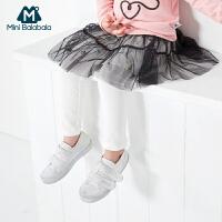 【129元3件】迷你巴拉巴拉女童裙裤纱裙秋装打底裤裙子新款宝宝裤子两件套