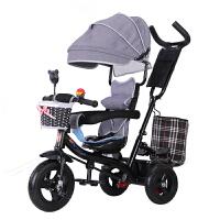 20190709195529928儿童三轮车脚踏车1-3-5岁大号轻便婴儿单车宝宝手推车自行车 18新升级嫩粉色 全棚
