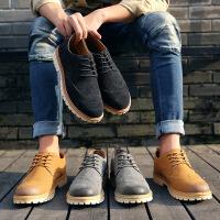 商务休闲皮鞋男鞋休闲鞋新款 男士皮鞋系带英伦透气板鞋低帮潮流工装鞋男布洛克9933JQSL