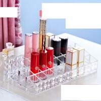桌面收纳盒口红格展示架口红收纳盒化妆护肤品透明亚克力唇膏釉彩
