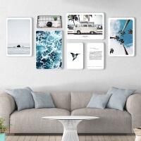 照片墙创意组合相框墙装饰北欧现代简约实木套装沙发背景挂墙