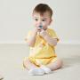 【2件3.8折】迷你巴拉巴拉男女婴儿连体衣纯棉新生儿双层护肚连体服2019宝宝夏季款