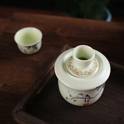 陶瓷温酒器烫酒壶家用酒具套装中式热暖酒壶礼盒