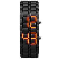 电子手表男士时尚潮流创意LED个性学生熔岩手链手表腕表