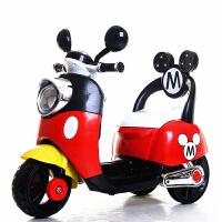 新款电动小摩托2-6岁宝宝带遥控三轮电动车米奇儿童电动车米老鼠宝宝可坐男孩女孩玩具童车电瓶车