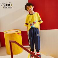小虎宝儿旗舰店男童短袖潮韩版洋气2020夏装新款儿童纯棉t恤上衣
