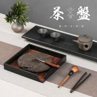 红木普洱茶盒分茶盘开茶盘 黑檀实木质功夫茶具茶道零配件