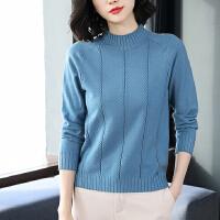 安妮纯秋冬半高领针织衫短款女装套头修身毛衣纯色新款韩版打底衫百搭