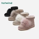 热风冬季新款学院风毛毛女士雪地靴圆头休闲棉鞋H89W8814