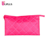 优家(UPLUS)菱格手拿式便携式化妆包大容量洗漱包收纳袋收纳包