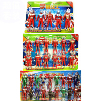奥特曼玩具套装 欧布 泰罗雷欧赛罗迪迦人偶儿童怪兽超人模型套装 大号5只装+12只装+18只装