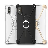 小米8手机壳金属边框8se保护套透明全包mi八硬壳带指环男女款无孔