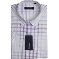 YOUNGOR雅戈尔紫色格子全棉短袖衬衫SXX11178-33