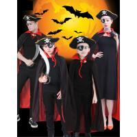 万圣节儿童服装海盗披风COS死神斗篷亲子装恐怖女巫成人男吸血鬼