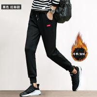 裤子男士休闲裤棉加厚卫裤韩版潮流秋冬季学生保暖加绒运动裤男