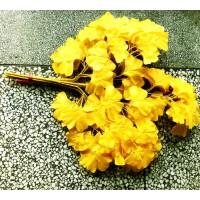 仿真植物叶子榕树枫叶芒果假叶子枝杈工程装饰绢花盆景长青树枝