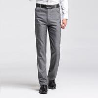 新款2018男士裤子夏季男士修身直筒黑色弹力中年男裤子夏季薄潮流