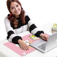 电脑加热保暖桌垫女鼠标垫办公室学生桌面发热写字台板电热暖手垫