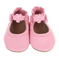 保税区发货/美国直邮 Robeez Claire Mary Jane 女童软底学步鞋弹性带3D贴花 粉色 海外购