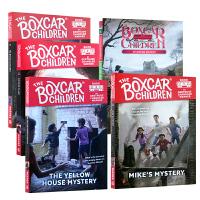 【全店300减100】英文原版小说 The Boxcar Children 1-5册 棚车少年儿童小说书 进阶桥梁章节书