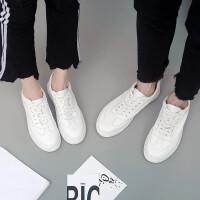 2018春夏小白鞋男真皮透气休闲板鞋情侣舒适百搭运动鞋女