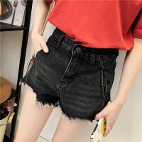 牛仔短裤女春装新款韩版磨边做旧牛仔裤学生高腰打底裤