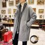 羊羔毛绒羽绒服短款男青年潮流个性加绒加厚棉外套宽松男士棉服冬