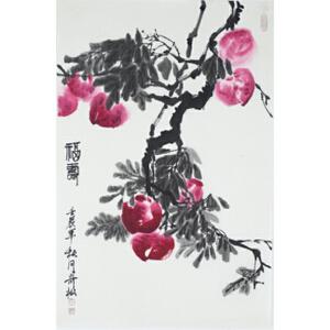 王奇松 《福寿图 》  46*69cm
