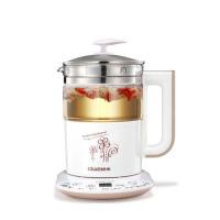 玻璃多功能电热烧水花茶壶黑茶煮茶器养身壶家用养生壶 白色