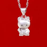 七度品尚可爱凯蒂猫生日礼物儿童母女聚财Hello Kitty纯银锁骨项链