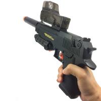 互动吸水晶软弹枪充电锂电沙漠之鹰电动连发儿童玩具