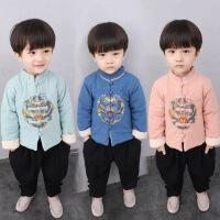 宝宝男1一2岁婴儿冬套装潮款中国风童装宝宝新年唐装儿童古装