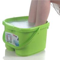 塑料足浴桶 洗脚盆 洗脚桶足浴盆带提手洗脚桶按摩泡脚桶足浴桶足疗桶(颜色随机)