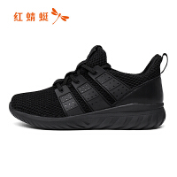 红蜻蜓女鞋2018新款韩版透气休闲舒适运动单鞋子潮