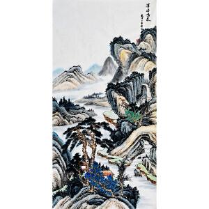 杨耀辉《深谷鸣泉》省美协会员 有作者本人授权 实力派画家带收藏证书