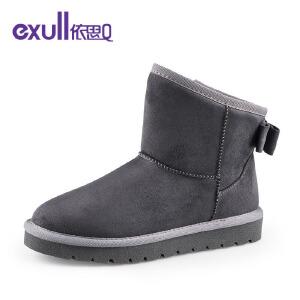 Exull依思Q可爱蝴蝶结雪地靴舒适保暖棉靴时尚女靴