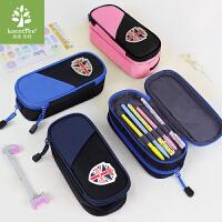 韩国kk树小学生笔袋男孩女童笔袋大容量儿童文具盒分层简约铅笔盒