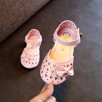 女童包头凉鞋夏季童鞋小女孩公主鞋镂空宝宝鞋儿童沙滩鞋