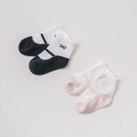 戴维贝拉春季新款女童袜子宝宝弹力时尚短袜DB9699