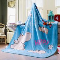 绚典家纺 儿童加厚毛毯 柔软儿童卡通云盖毯 婴儿毛毯 四季拉舍尔毯