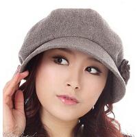 韩版时尚新款春秋天女士羊毛呢画家 帽子 秋冬天大码女帽