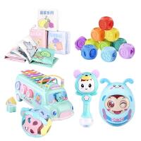 婴儿玩具摇铃软胶磨牙套装0-3-6-12个月智力