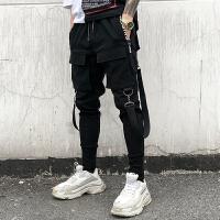新品18春夏新款男士潮流韩版修身哈伦小脚裤立体口袋青年小伙休闲